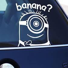 minion car banana sticker - AMAZING!