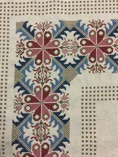 The border pattern Cross Stitch Borders, Cross Stitch Flowers, Cross Stitch Designs, Cross Stitching, Cross Stitch Embroidery, Embroidery Patterns, Hand Embroidery, Cross Stitch Patterns, Palestinian Embroidery