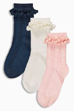 Buy Three Pack Textured Pom Pom Socks (Older Girls) online today at Next: Slovakia