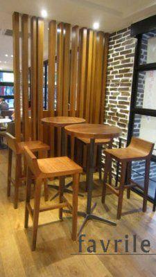 #實木吧檯椅-羅多倫咖啡DOUTOR COFFEE SHOP光復店