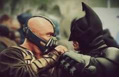Christian Bales Batman & Tom Hardys Bane Feature In Fantastic The Dark Knight Rises Photorealistic Portrait