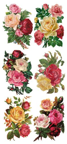 Trade Card Stickers – Page 9 – Violette Stickers Decoupage Vintage, Decoupage Paper, Vintage Diy, Vintage Ephemera, Vintage Paper, Vintage Flowers, Vintage Floral, Flower Images, Flower Art