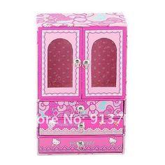 Hello Kitty Cardboard Storage Jewellery Box Wardrobe Cosmetic Christmas Gifts  $17.58 @Fitriana Rahayu store