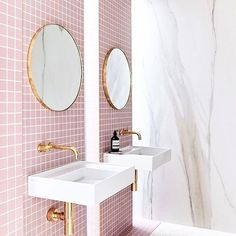 We're just admiring this beautiful soft pink bathroom 😍 the gold accents really complete the room! . . . . . . . . . #interior123 #interiordesign #interiorstyling #interior4all #interiordecor #interiordesigner #interiorinspo #interior #home #homedesign #homedecor #inspiration #love #sunday #sundayfunday #designer #fff #f4f #l4l #like4like #likeforlike #likealways #followforfollow #follow4follow #followme #instalike #instagood #regram #instahome #nofilter