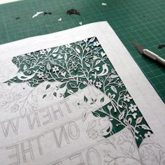 Paper cutting A - Z lots of instruction, templates & videos
