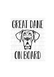Great Dane Car Decal Stickers Google Search Great Dane Dog
