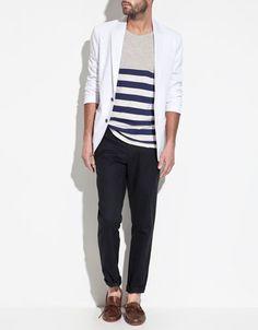 in grey, blazer