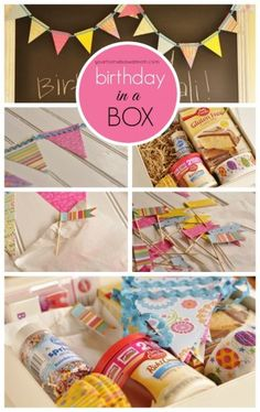 Send a birthday box to your favorite college student or friend or family member who is away from home.