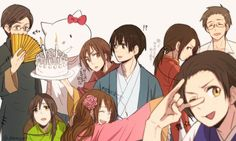 Tags: Fanart, Axis Powers: Hetalia, Taiwan, Japan, Hong Kong, China, Pixiv, Vietnam, Thailand, Shinatty-chan, South Korea, Asian Countries, ...