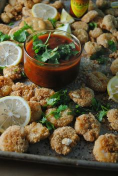 Crispy Broiled Shrimp with Tangy Cocktail Sauce