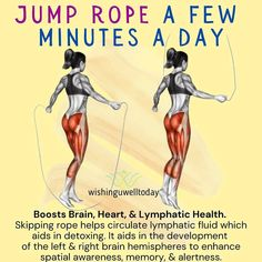 Everyday Workout, Skipping Rope, Right Brain, Health Facts, Fitness Motivation, Health Fitness, Good Things, Exercises, Instagram