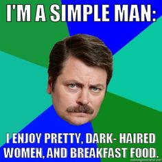 Ron Swanson: This is a response to the Overly Manly Man meme. For more information on this meme, visit: http://knowyourmeme.com/memes/overly-manly-man