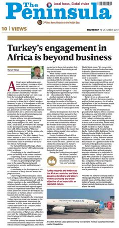 Turkey's engagement in Africa is beyond business