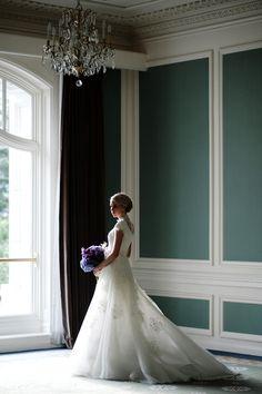 Stunning Sheer Train - Modest Wedding Gown