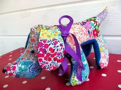 Liberty Patchwork Pup | Free pdf pattern & instructions from Bustle & Sew