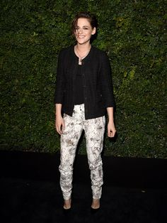 Actress Kristen Stewart attends the Charles Finch and Chanel Pre-Oscar Awards Dinner at Madeo Restaurant in Los Angeles.   Jason Merritt, WireImage