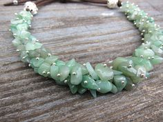 Jade necklace Gemstone Necklace choker Nephrite necklaces Bohemian necklace Aries birthstone Healing jewelry Mint necklace Gift idea for her by JaneRJewelry on Etsy