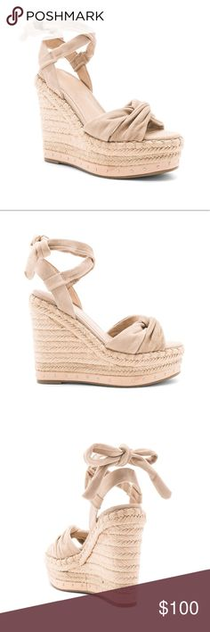 Kendall + Kylie Nude Espadrille Wedge Kendall + Kylie Nude Espadrille Wedge. Size 9.5. Worn once, perfect condition. Kendall & Kylie Shoes Heels