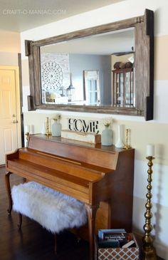 New mirror for my living room - Craft-O-Maniac @Bellacor