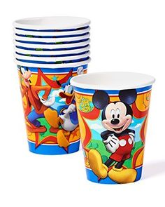 Mickey Mouse Clubhouse 9oz Paper Party Cups, Pack of 8, Party Supplies, http://www.amazon.com/dp/B00KQ18XNO/ref=cm_sw_r_pi_awdm_-z1Nub0K2VBNM