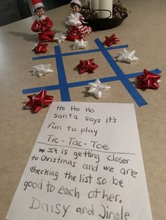 Elf on the Shelf Ideas for Kids With Messages Which Kids Are Gonna Love - Hike n Dip Here are over 70 Elf on the Shelf Ideas for Kids. These funny Elf on the Shelf ideas with notes will surely be a fun thing to do with kids for Christmas. Christmas Elf, All Things Christmas, Christmas Crafts, Christmas Decorations, Christmas List Ideas, Christmas Presents, Elf On The Self, The Elf, Christmas Activities