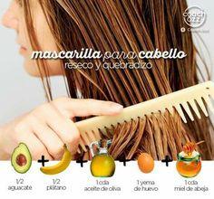 Beauty Secrets, Beauty Hacks, Dry Hair Mask, Curly Hair Styles, Natural Hair Styles, Plum Hair, Facial Tips, Cabello Hair, Homemade Beauty Products