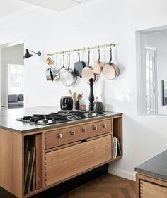 Let's cook. We have integrated the epic gas hob from in the island of this beautiful kitchen. Have a look at our… Made To Measure Furniture, Japanese Style House, Cabinet Door Styles, Mid Century Modern Kitchen, Küchen Design, Interior Design, Showroom Design, Design Ideas, Bespoke Kitchens