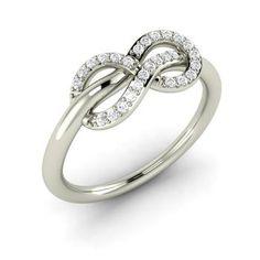 Diamond Ring in 14k White Gold | 0.13 ct. tw. | Round Cut | Angellica | Diamondere