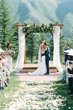 Brides: A Fresh Summer Wedding Nestled in the Mountains of Aspen