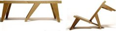 Convertible Outdoor Furniture: Wooden Bench-to-Chair   Designs & Ideas on Dornob