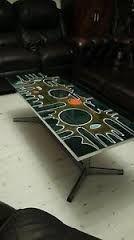 Image result for tile and chrome retro coffee table Retro Coffee Tables, Tile, Chrome, Image, Furniture, Home Decor, Mosaics, Decoration Home, Room Decor