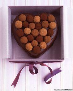 Sacher Torte Heart with Truffle Top | Martha Stewart