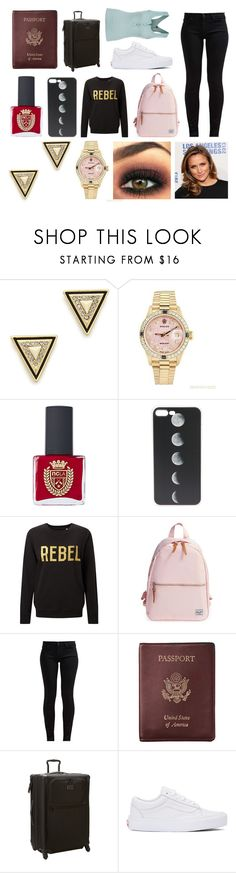 """""""Flight to the Bahamas"""" by hailey-smith-13 ❤ liked on Polyvore featuring House of Harlow 1960, Rolex, ncLA, Herschel Supply Co., 7 For All Mankind, Royce Leather, Tumi, Vans and Free People"""