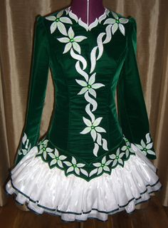 Attempt to make Irish dance dresses for my granddaughter Olivia.  Just ordered my new sewing machine.