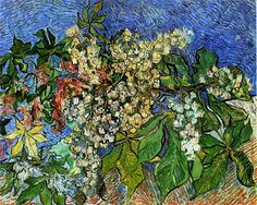 Blossoming Chestnut Branches, 1890 Vincent van Gogh