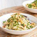 http://avocadopesto.com/2014/06/22/creamy-chicken-pesto-pasta-gluten-free-dairy-free/