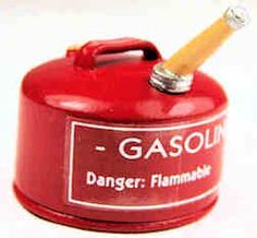 Gasoline can $14 Miniature  Painted  Metal
