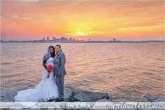 #itsallinthetiming #sunset #boston #deerisland #weddingday #weddingdress #pinkandgrey #bostonwedding #weddingphotography #melissakorenphotography #tolovetolaughtoremember #beautyinnature #skyline #horizon #bostonskyline