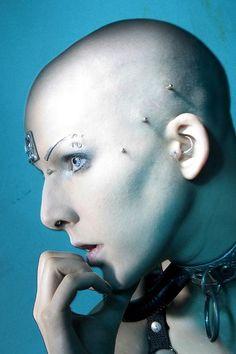 CYBERPUNK, Futuristic look, Piercing
