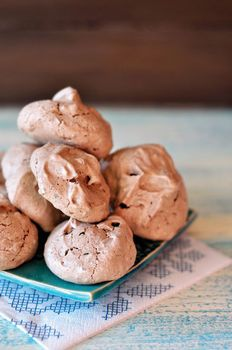 GF Chocolate Almond Meringues