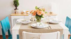 Decoração de mesa cheia de estilo