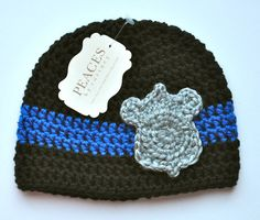 83e0760f699 Police Baby Hat - Black with Silver Badge