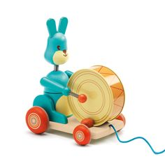 Let your little one start a parade with the Bunny Boum Pull Along Toy from the French toy brand, Djeco. – Measures 16 x x 20 cm – Suitable for ages 18 months+ – CE-certified Best Kids Toys, Toys For Boys, Toddler Gifts, Toddler Toys, Arty Toys, Best Christmas Toys, Pull Along Toys, Good Birthday Presents, Pull Toy