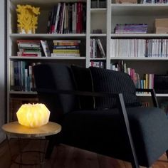 DIY lampe origami - origami lamp - www. Origami Lampshade, Paper Lampshade, Suspension Diy Luminaire, Origami And Kirigami, Diy For Kids, Accent Chairs, Paper Crafts, Furniture, Lamp Shades