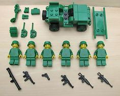 Lego WW2 Army Men with Jeep