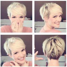"""423 kedvelés, 4 hozzászólás – SHORT HAIR INSPIRATION  (@chopitoff) Instagram-hozzászólása: """"✂️✂️✂️ @mademoiselle_pixie . . . . #pixie #pixiecut #girlswithshorthair #shorthairdontcare…"""""""