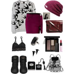 """black and red"" by smile-laugh on Polyvore"