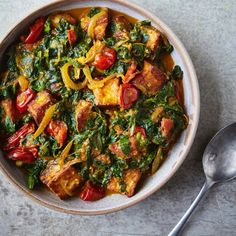 Saag Halloumi — JOHN WHAITE'S KITCHEN fat drink fat workout drinks and Nutrition plan plans to lose weight recipes tips for beginners Tips for women burning detox drinks Diet Tips diet Stove Top Recipes, Veg Recipes, Curry Recipes, Indian Food Recipes, Vegetarian Recipes, Cooking Recipes, Healthy Recipes, Sushi Recipes, Halloumi
