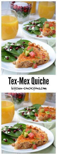 Looking for a unique holiday brunch recipe full of flavor and personality? Try this zesty vegetarian Tex-Mex Quiche, perfect for Christmas or New Year's Day Breakfast Dishes, Breakfast Time, Healthy Breakfast Recipes, Best Breakfast, Brunch Recipes, Healthy Recipes, Breakfast Quiche, Breakfast Ideas, Tostadas