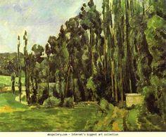 Paul Cézanne. Poplar Trees. Olga's Gallery.
